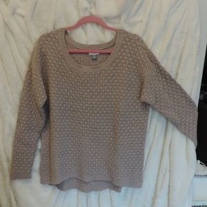 Old Navy Thick Sweater Taupe Long Sleeve NWOT